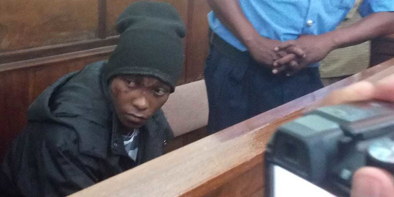 Naftali Njahi Kinuthia during his first court appearance following murder of Ivy Wangechi (Twitter)