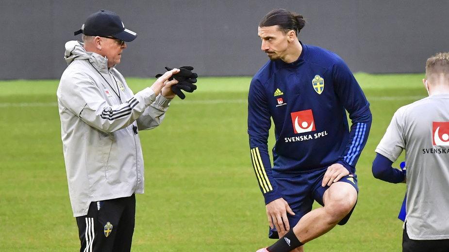 Janne Andersson oraz Zlatan Ibrahimović