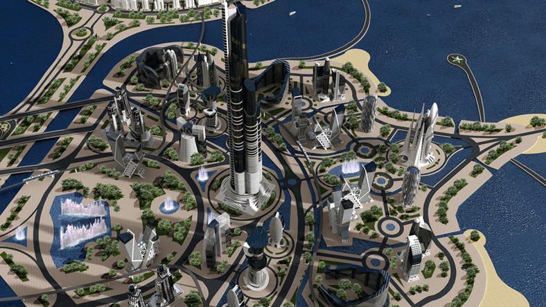 Na 41 sztucznych wyspach (niektóre źródła mówią o 55 wyspach) powstać ma miasto-przyszłości, w którym zamieszka około 1 miliona osób