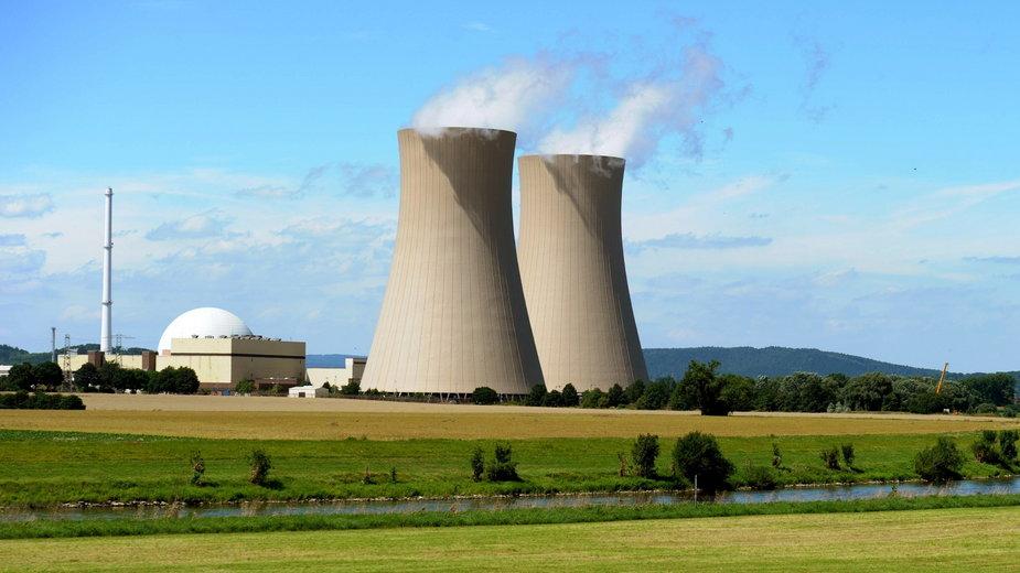 Niemcy: elektrownia jądrowa Grohnde w Hameln