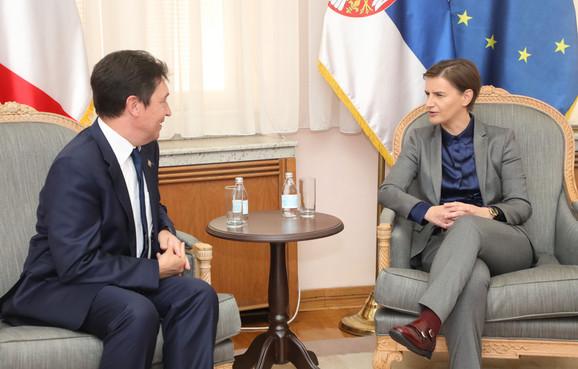 Olivije Kadik i Ana Brnabić