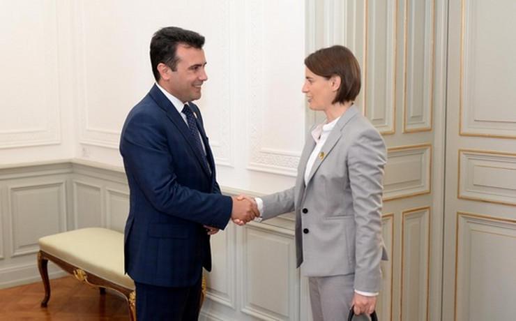 Zoran Zaev i Ana Brnabić Tanjug