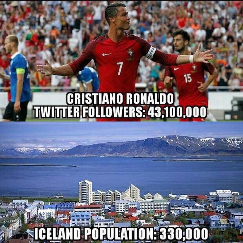 Cristiano Ronaldo nie dał rady Wikingom. MEMY