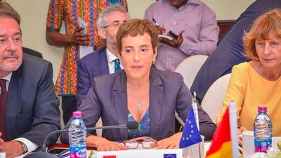 EU rep. Diana Acconcia applauds government for burning excavators