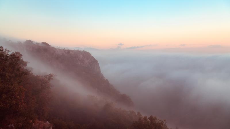 Mgła w okolicach Triestu