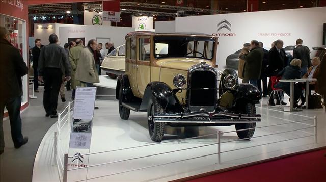 Citroen na paryskich targach pojazdów zabytkowych Retromobile 2014