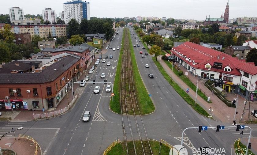Przebudowa układu komunikacyjnego w Dąbrowie Górniczej. Skrzyżowanie ul. Królowej Jadwigi i Wojska Polskiego.