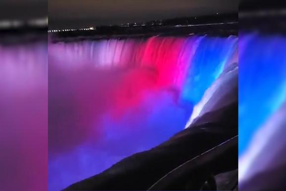 NIJAGARINI VODOPADI U BOJAMA SRPSKE ZASTAVE Prvi put u istoriji Kanada je ovako odala počast drugoj državi, a evo kako je to izgledalo (VIDEO)