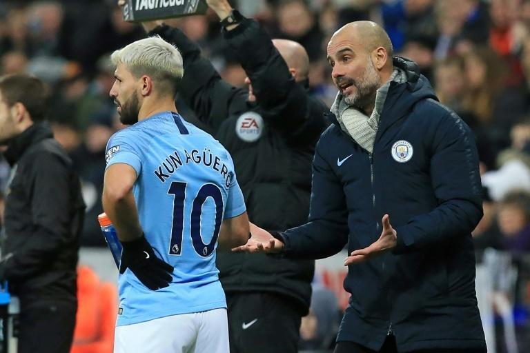 Manchester City lost 2-1 at Newcastle despite a goal for Sergio Aguero