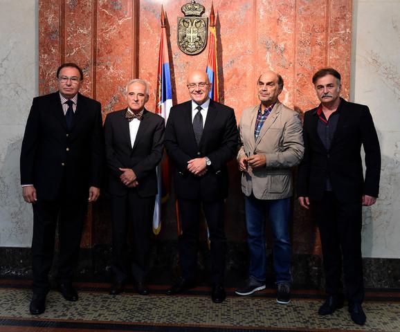 Bivši i sadašnji ministri kulture: Dragan Kojadinović, Bratislav Petković, Vladan Vukosavljević, Vojislav Brajović, Branislav Lečić