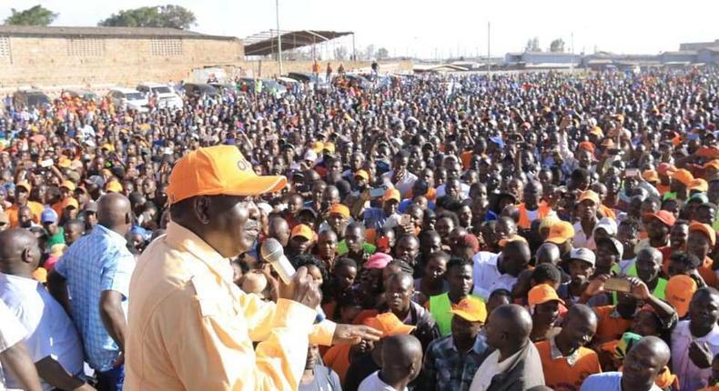 Raila Odinga on the campaign trail in Nairobi