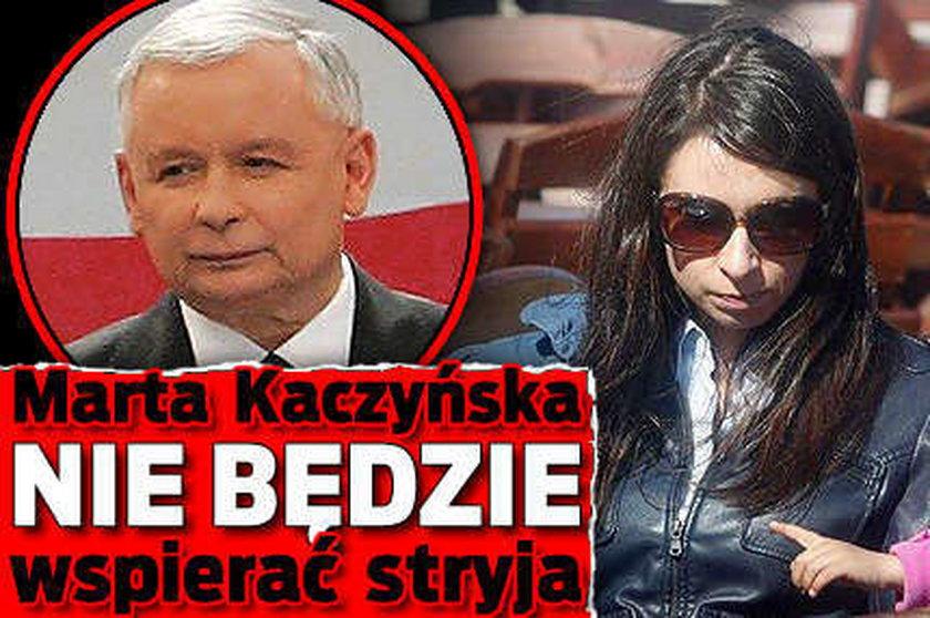 Marta Kaczyńska nie będzie wspierać stryja