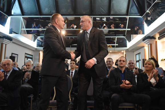 Dosadašnji i novi predsednik KSS-a: Dragan Đilas i Predrag Danilović