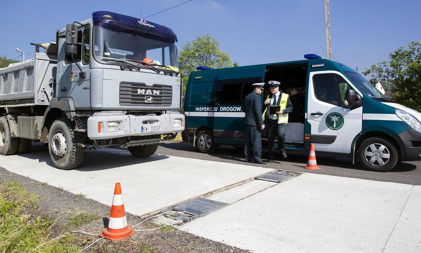 Punkt ważenia ciężarówek w Krakowie