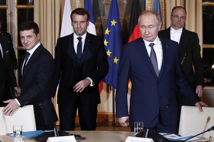 Putin i Zelenski, sastanak Pariz
