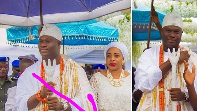 The Ooni of Ife and his wife