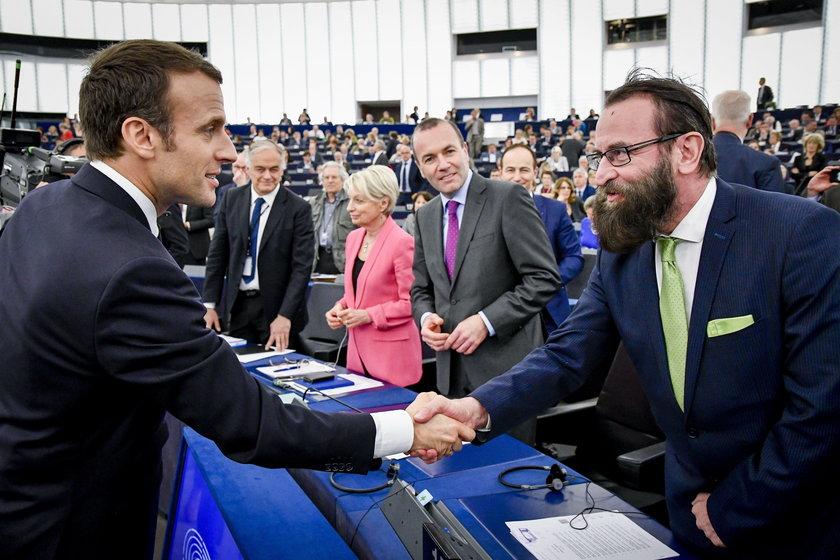 Emmanuel Macron i József Szajer