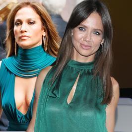 Jennifer Lopez czy Kinga Rusin: która lepiej wygląda w zielonej sukni?