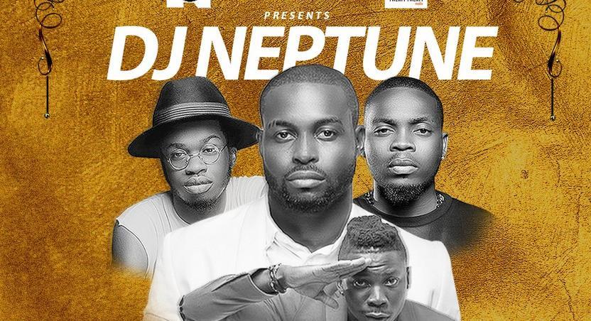 DJ Neptune's Baddest cover art featuring Olamide, Stonebwoy & BOJ