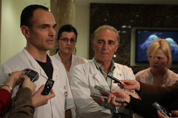 Ljubomir Ilić i Jovan Marić daju izjavu novinarima
