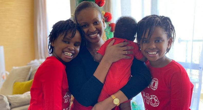 Grace Msalame with her family (Son and daughters)