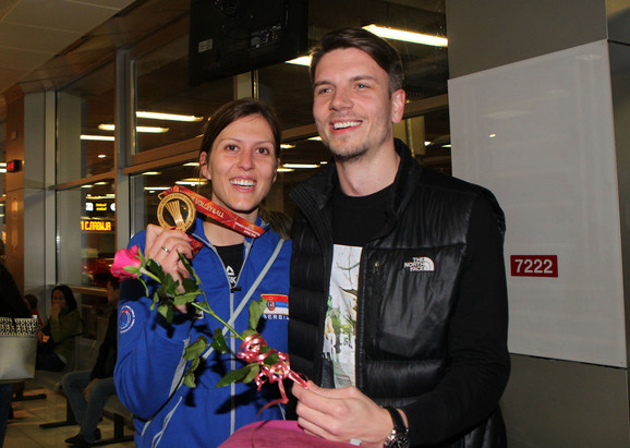 Bojana Živković na aerodromu