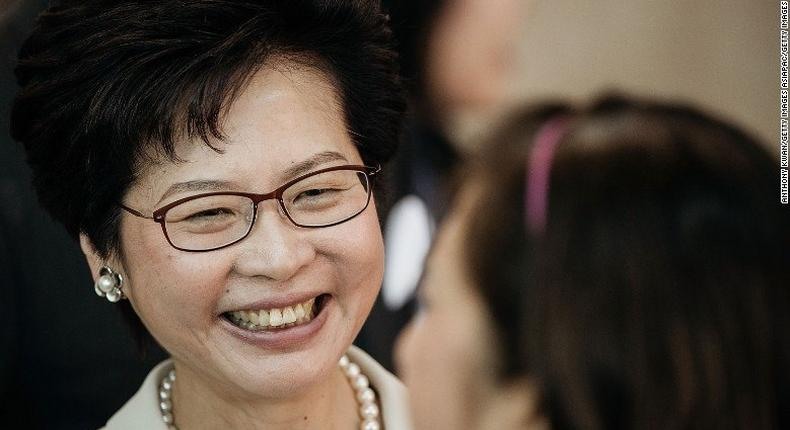 Carrie Lam will be the fourth Hong Kong chief executive, and the first female leader in the city's history