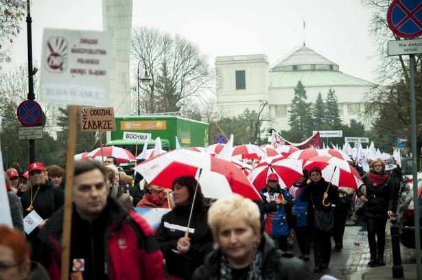 Manifestacja nauczycieli w Warszawie
