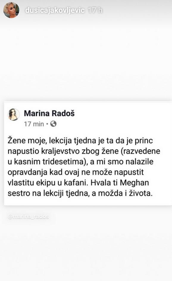 Dušica Jakovljević o Megan i Hariju