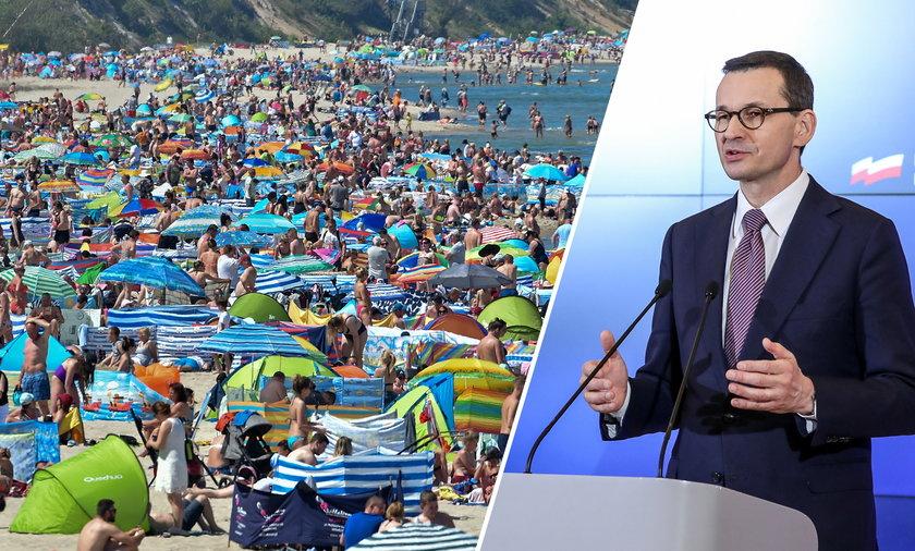 Tłumy na plażach, Polacy cieszą się wolnością. A rząd zastanawia się: Czy to czas na zniesienie stanu epidemii.