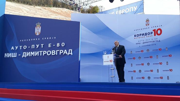 Koridor 10, istočni krak, svečano otvaranje, Bojko Borisov, Aleksandar Vučić