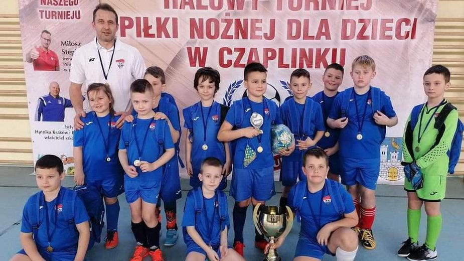 Młodzi piłkarze z Drawska Pomorskiego zagrali w Czaplinku