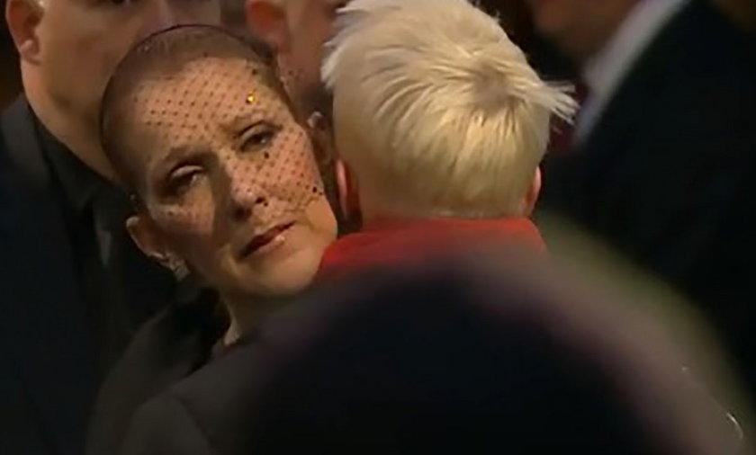 Celine Dion podczas pożegnania męża w Montrealu