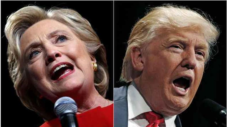 U.S. presidential candidates Hillary Clinton and Donald Trump speak at campaign rallies