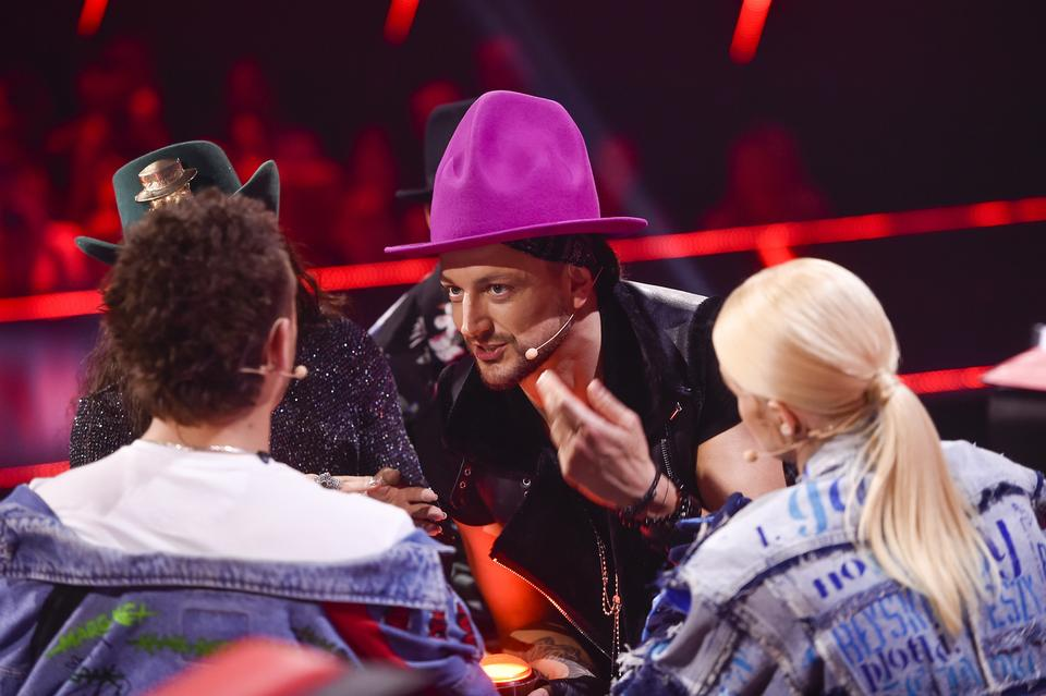 "Baron na planie ""The Voice of Poland 10"""