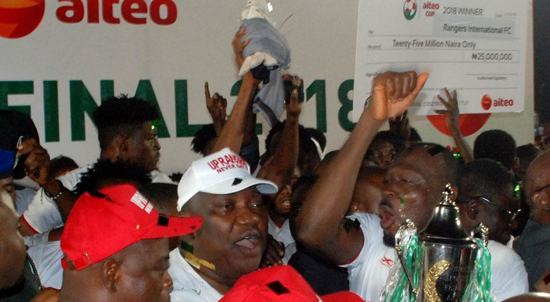 Rangers ignite miracle in Asaba to complete series of comebacks in Aiteo Cup triumph