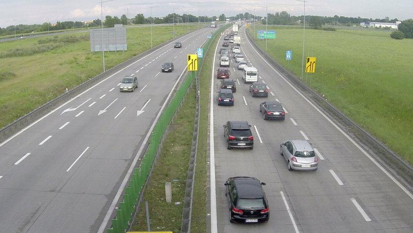 A4 w okolicach Bielan Wrocławskich