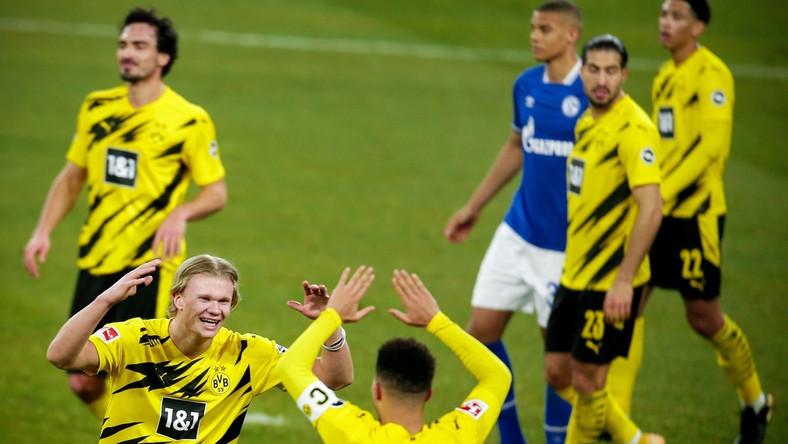 Erling Haaland strzelił efektownego gola w Derby Zagłębia Ruhry PAP/EPA.