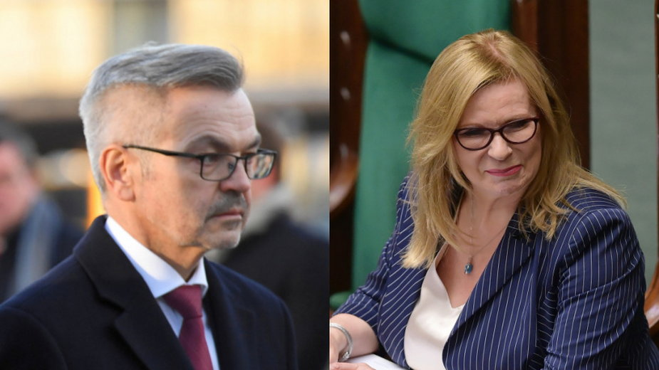 Krzysztof Krajewski i Małgorzata Gosiewska