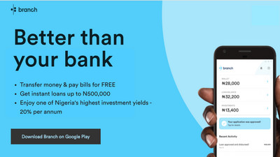 Branch announces free unlimited money transfers and Nigeria's leading investment returns at 20%