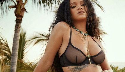 Rihanna woli interes od muzyki. Została twarzą własnych majtek...