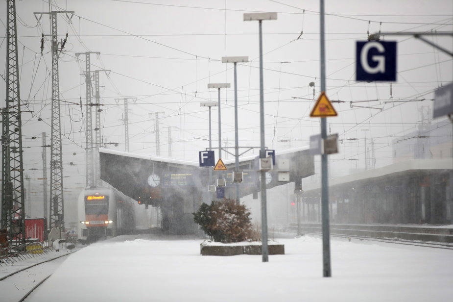 Śnieżyce w Niemczech
