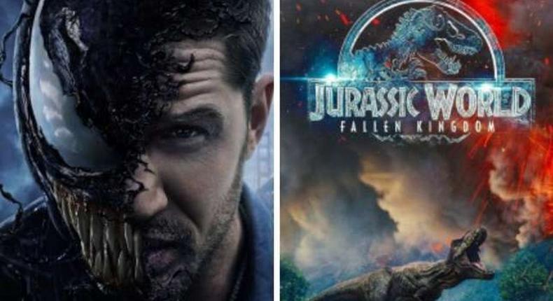 Venom and Jurassic World (Fallen Kingdom) covers. Best Movies of 2018 (IMDb)