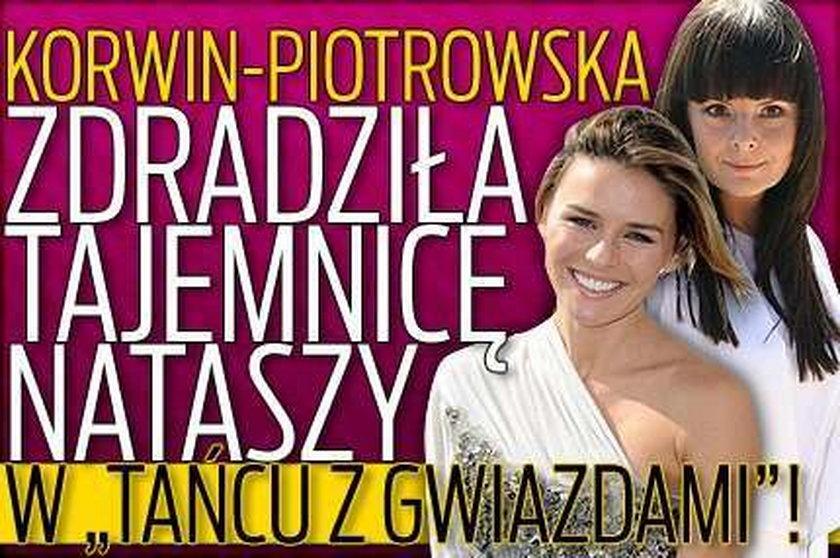"""Korwin-Piotrowska zdradziła tajemnicę Nataszy w """"Tańcu z Gwiazdami""""!"""