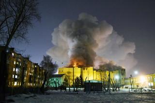 Kolejny pożar centrum handlowego w Rosji