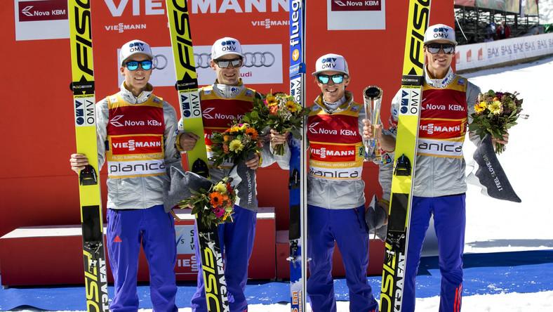 Johann Andre Forfang, Kenneth Gangnes, Anders Fannemel i Daniel Andre Tande