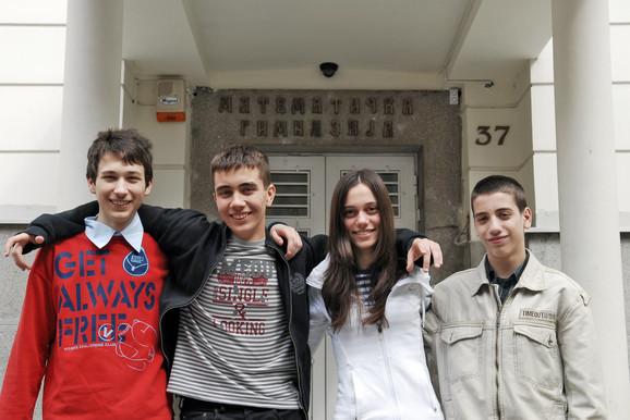 Ivan Tanasijević, Đorđe Žikelić, Jelena Trišović i Petar Trifunović