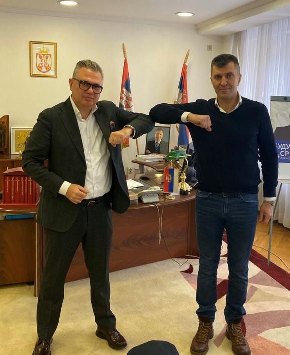 Nikos Zois i Ministar Đorđević