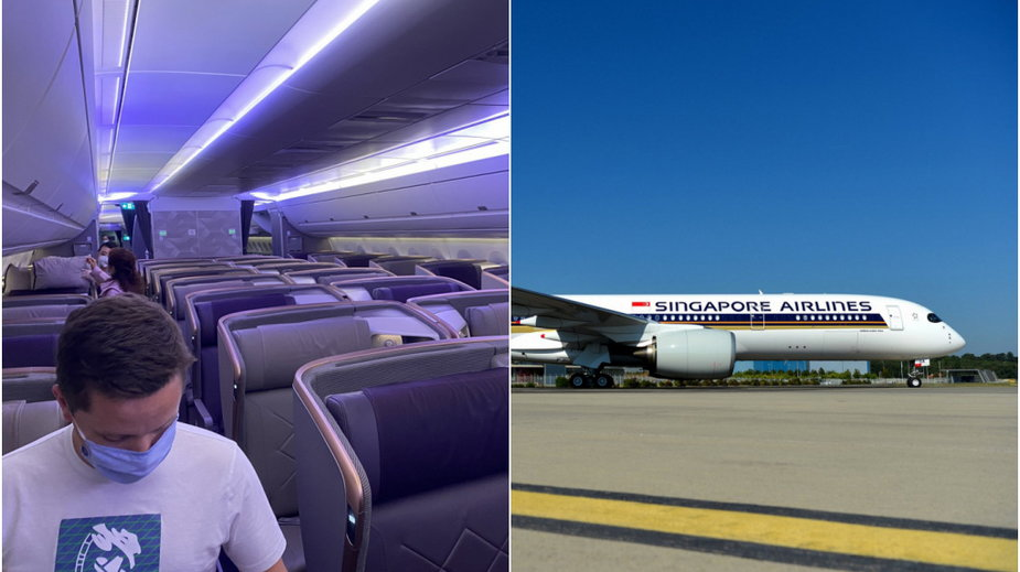 Puste samoloty Singapore AIrlines