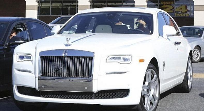 Kylie Jenner's white Rolls Royce Ghost worth $400,000 (N79.6m)